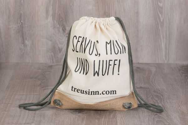 "Treusinn Turnbeutel Canvas ""Wuff"""