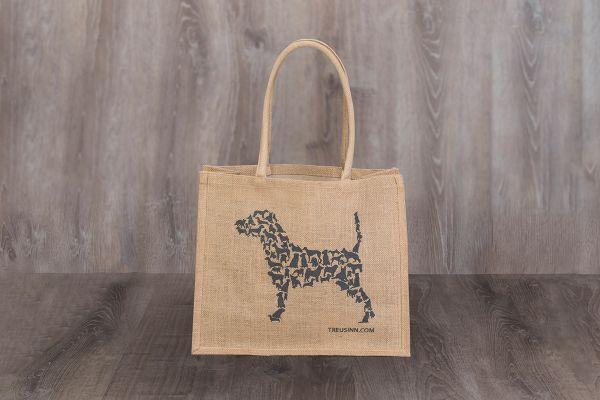 Treusinn Eco Shopper Jute mit Hundemotiv