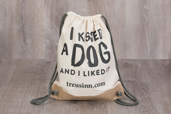 "Treusinn Turnbeutel Canvas ""Kiss"""