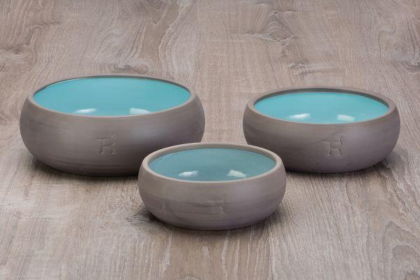 Treusinn Keramik Hundenapf Pur Aqua