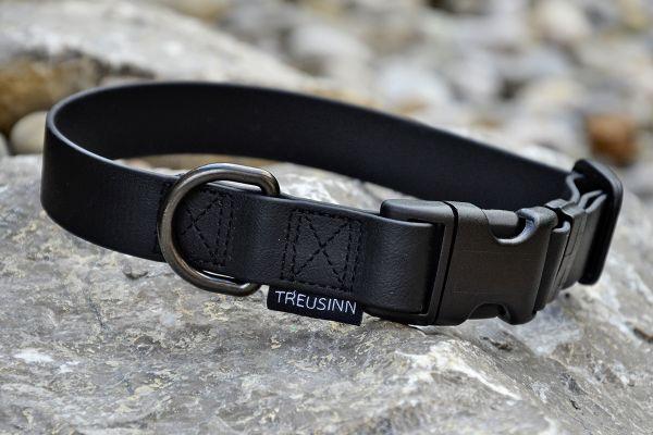 TREUSINN Hundehalsband Biothane schwarz