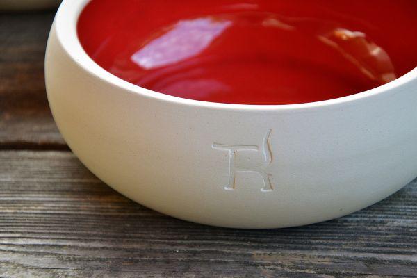 TREUSINN Fressnapf Keramik Purpur